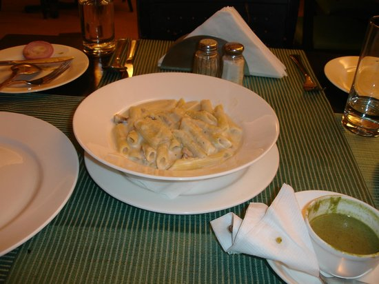 The Baga Marina: Penne Alfredo at Cafe Baga