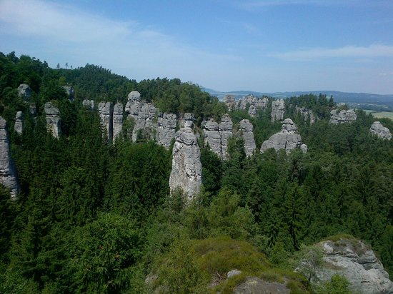 Hruba Skala - Rock City: Rock formation a kilometer off Hruba Skala castle.