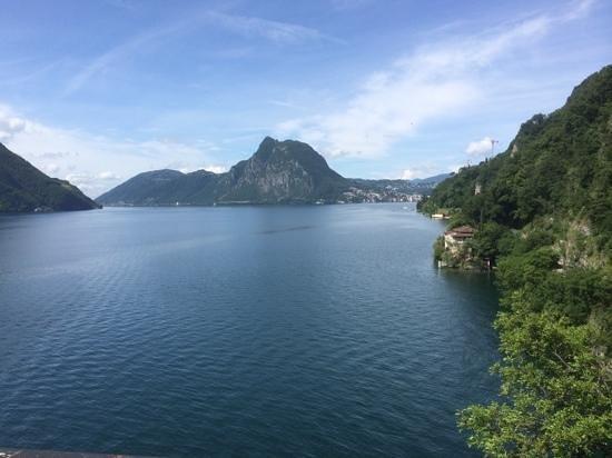Hotel Moosmann: Blick von Gandria nach Lugano