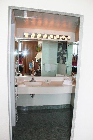 Hawaiian Inn: bathroom sink area rm 340