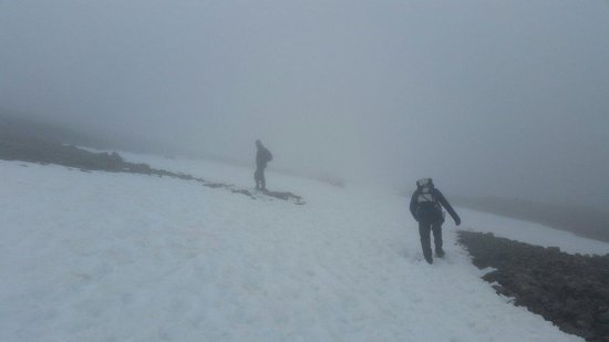 Ben Nevis: Weather was a bit rough at this point about a 1/3 of the way up x