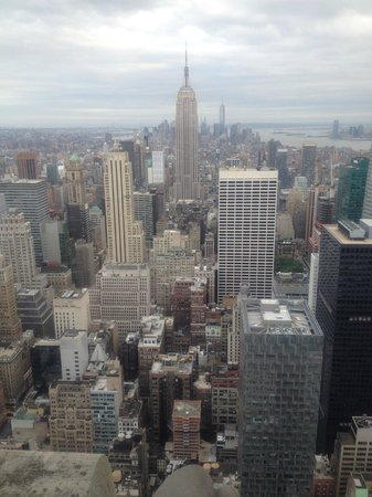 Plate-forme d'observation du GE Building : View of Empire State Building