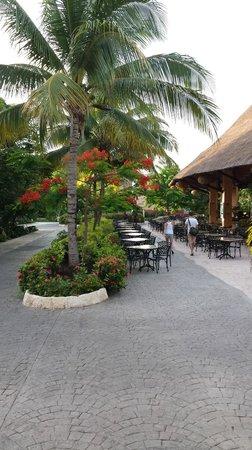 Sandos Caracol Eco Resort: rechts de bioscoop