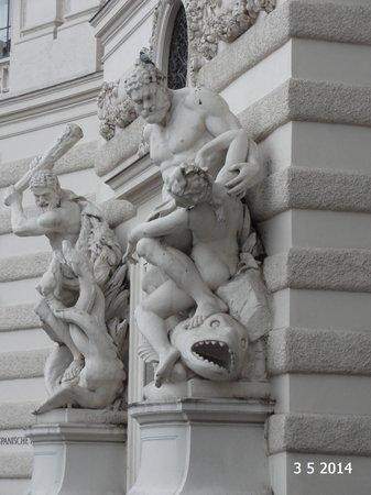 Michaelerplatz: One of the four statues