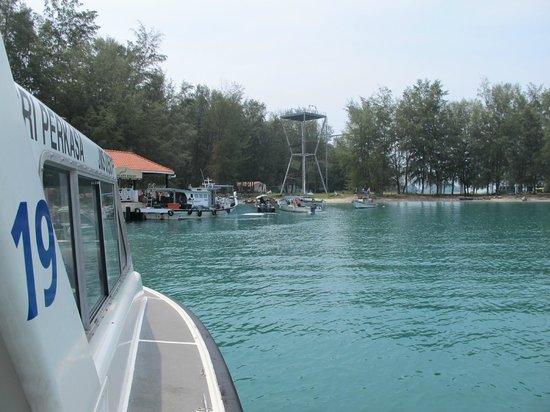 Sibu Island Resort: On the boat near arrival