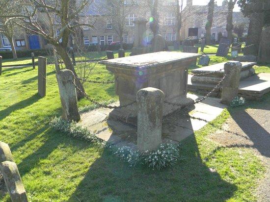Eyam Parish Church of St Lawrence: Gravestone at Eyam Church