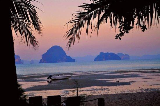 Tup Kaek Sunset Beach Resort : vistas desde el rstaurante