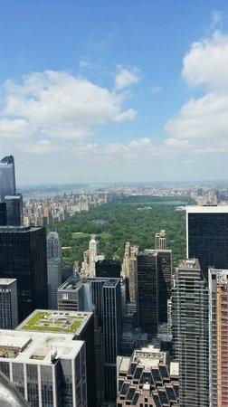 Plate-forme d'observation du GE Building : Central Park