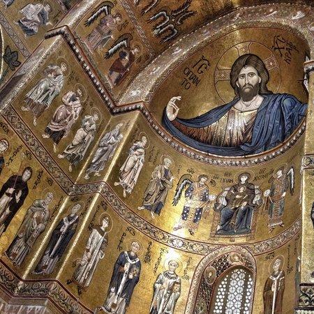 Duomo di Monreale: Detalhe do altar da igreja de Monreale