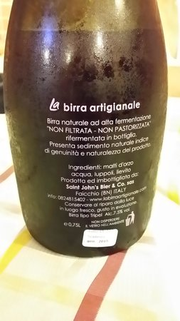 L'Antico Arco: birra artigianale Tripel