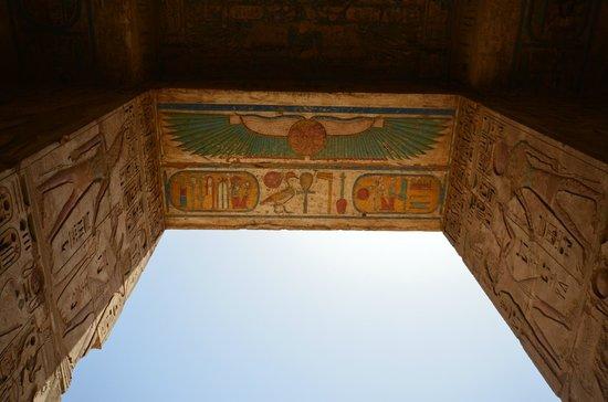 Temple of Medinat Habu: fresque