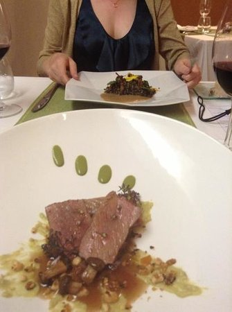 Kiaora Biococina: lamb on side...quinoa the other