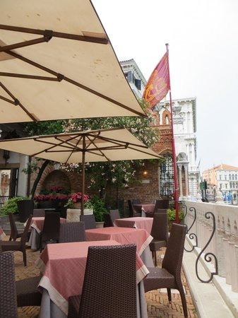 Hotel Palazzo Stern: Terrace on the Grand Canal - breakfast here when weather is fine.