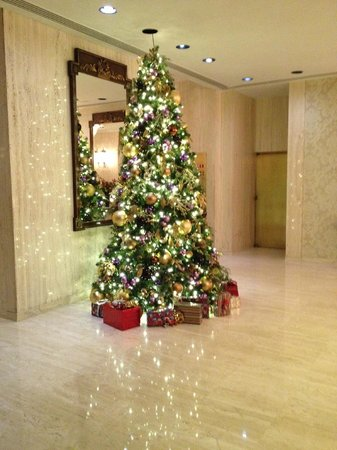 Park Lane Hotel: One of the Christmas trees in reception