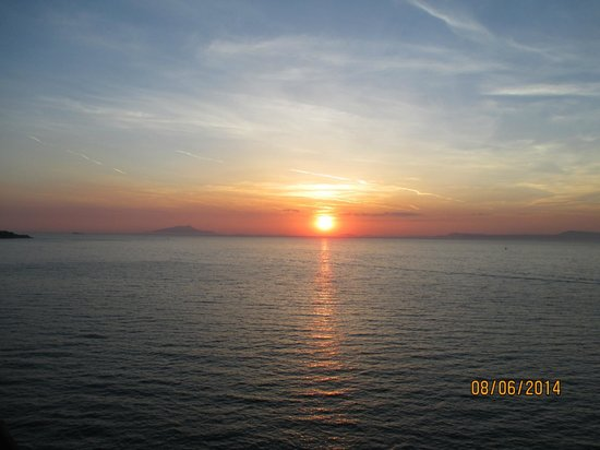 Hotel Corallo Sorrento : Sunset