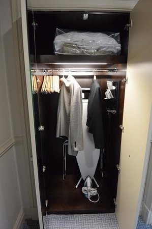 Waldorf Astoria Edinburgh - The Caledonian: Closet in standard room at The Caledonian, Edinburgh, Scotland.