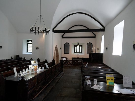 St. Michael's Old Church: Interior view from entrance door