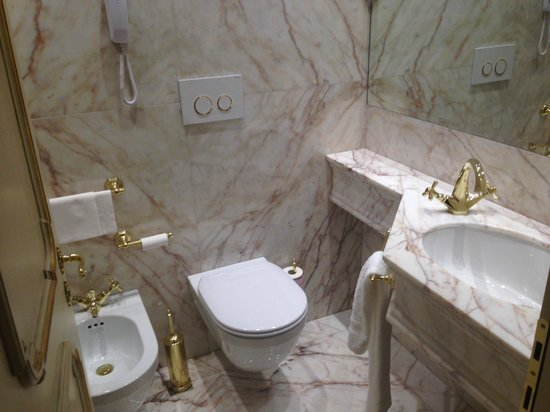 Hotel Ai Reali: Standard- room for the toilet, all marble