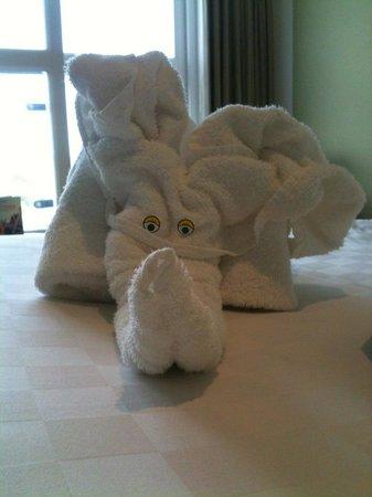 Butlins Shoreline Hotel: The towel when we arrived!