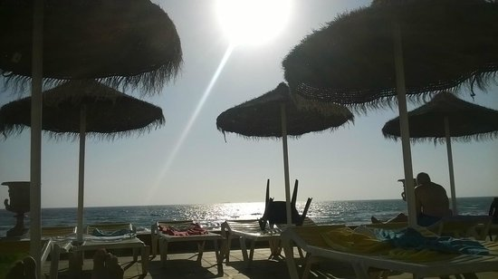 Hotel Entremares: foto desde las amacas frente a la playa