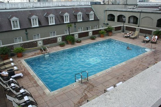 Omni Royal Orleans: the pool on the roof of the hotel