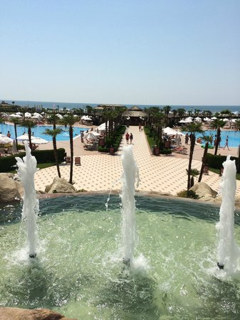 DIT Majestic Beach Resort : View of pool areas from the terrace