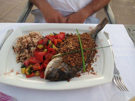 Domaine le Milos : daurade et ces petits legumes frais