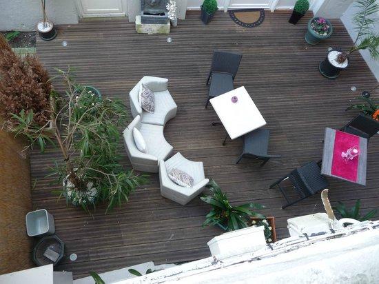 Citotel de France: Terrasse intérieur