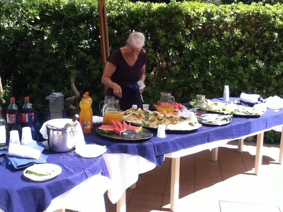 Haus Charlotte: buffet in piscina