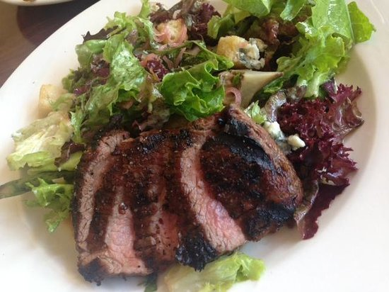 Meritage : Grilled Steak Salad with grilled asparagus, roquefort, and artichoke hearts