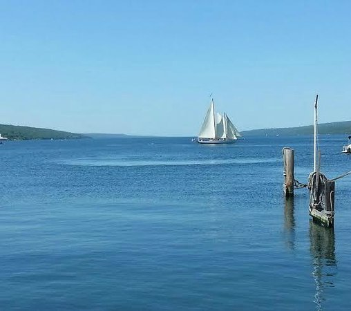 Seneca Harbor Station : No food photo, just this beautiful view from our table.