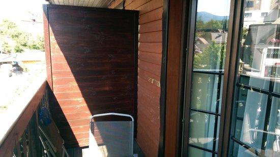Hotel Krysztal: Balkon pokoju 207