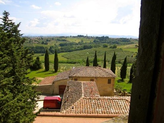 Tuscany Bike Tours: Tuscan views from atop the castle