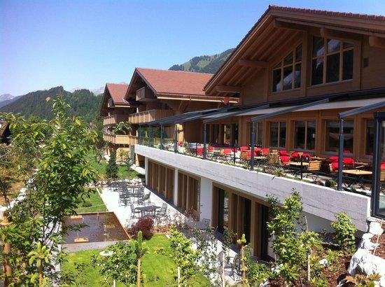 Hotel Spitzhorn: Restaurant Terrasse