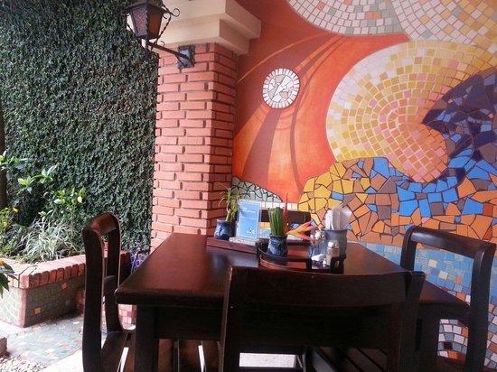 Apartotel La Sabana : Our favorite spot to enjoy in their yummy breakfast