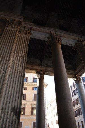 Exterior of the Pantheon columns