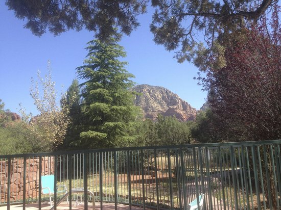 Casa Sedona Inn: one of many great views-this is from the patio area