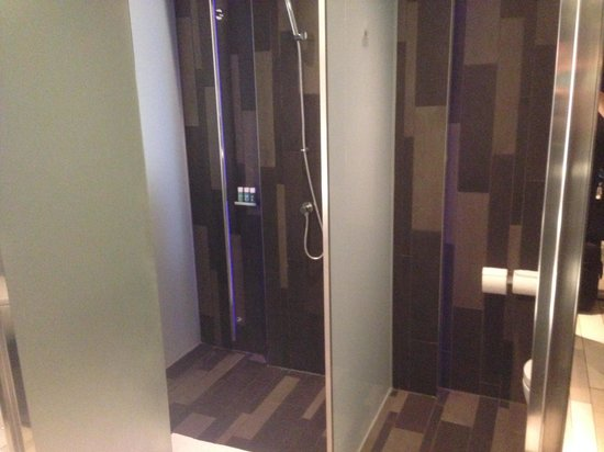 W London Leicester Square: Show and bathroom are located behind secret mirrored doors