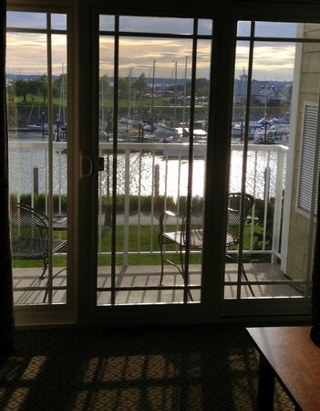 Hotel Bellwether: The balcony at the sunset time