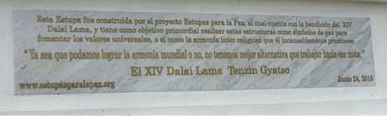 Hostal de la Luz - Spa Holistic Resort: This is the inscription by the Dalai Lama