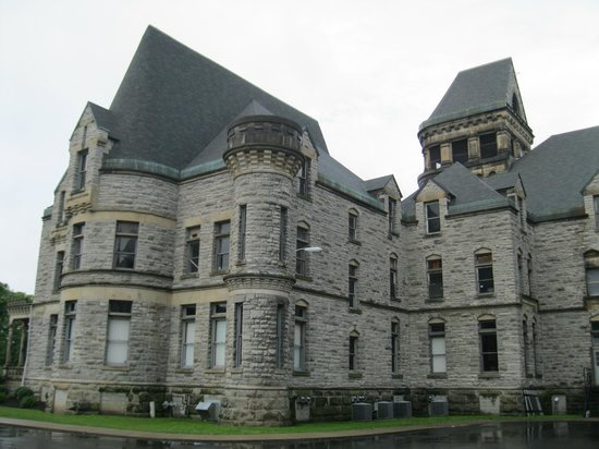 Ohio State Reformatory: Exterior.  Imposing architecture in and out.