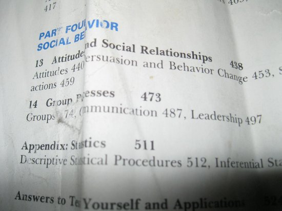 Ohio State Reformatory: Page from psychology textbook left in prison library