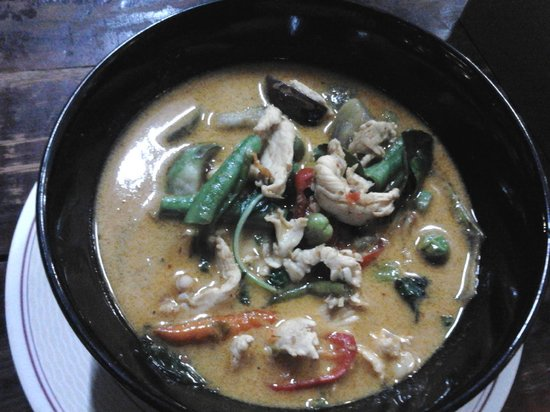 Su Chilli: spicy red curry (no flash on my phone, sorry)