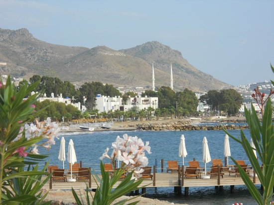 La Blanche Resort & Spa : View to Turgutreis from the hotel's gulf