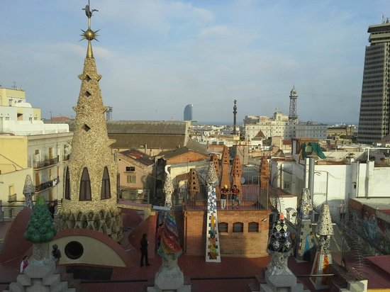 Hotel Gaudi: view from rooftop terrace