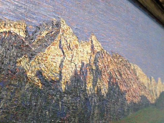 Städel Museum: Close-up of Segantini's Alpine Landscape at Sunset