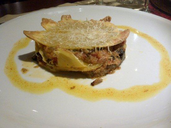 Le Ninfe: Lasagnetta di ceci con ragu' d'agnello all'abruzzese