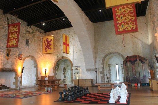 Carrickfergus Castle: 最上階の大広間