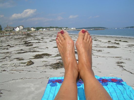 The Cape Porpoise Motel: Mes pieds à Goose Rocks