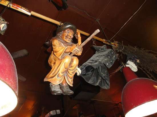 Bierencafe De Heks: Heks means Witch, this one is hanging on the ceiling